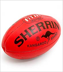how to kick an afl ball on the run