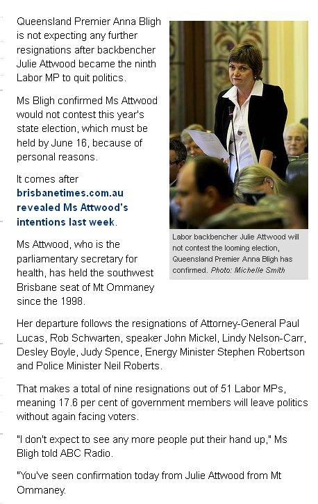 Queensland Labor in the Wipeout zone « Iain Hall's SANDPIT