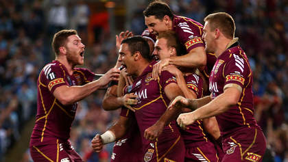 SYDNEY, AUSTRALIA - JULY 17:  Justin Hodges of the Maroons