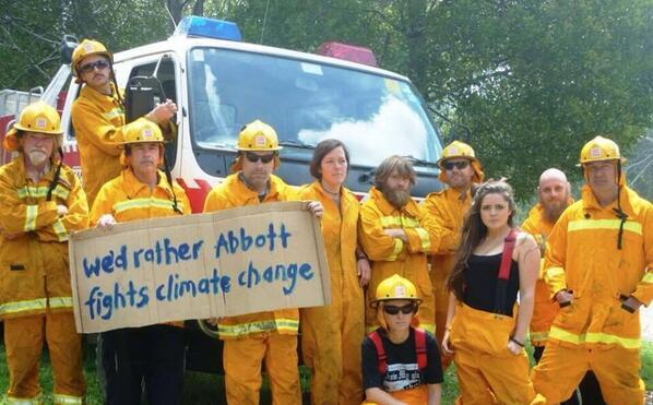 Don't these volunteers realize that thereis nothing unusual about our recent bush fires?  that said young hottie in the foreground could start few fires all on her own