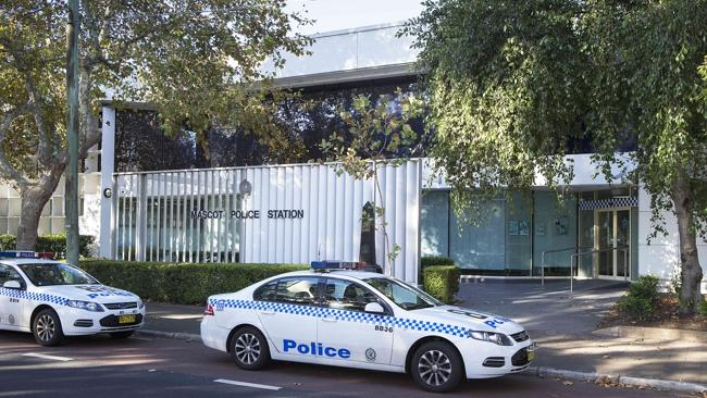 The woman was taken to Mascot Police Station / Picture: Justin Lloyd Source: News Corp Australia