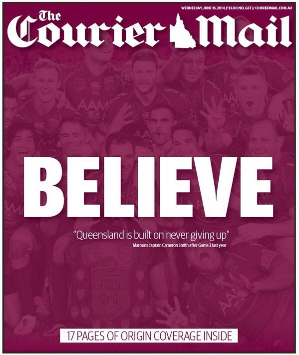 The odds may be against Queensland  but I do hope that we do better than match one .....