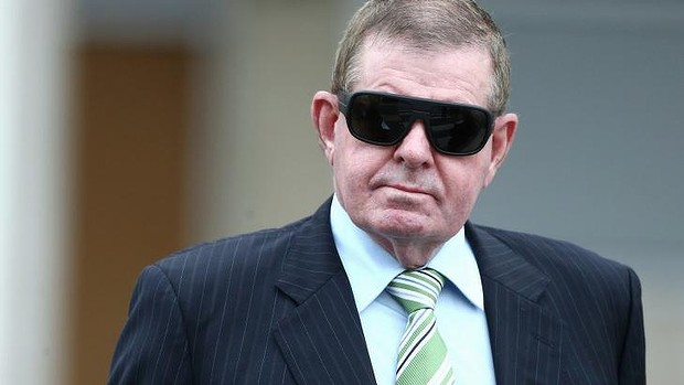 Peter Slipper arriving at court on Monday. Photo: Alex Ellinghausen