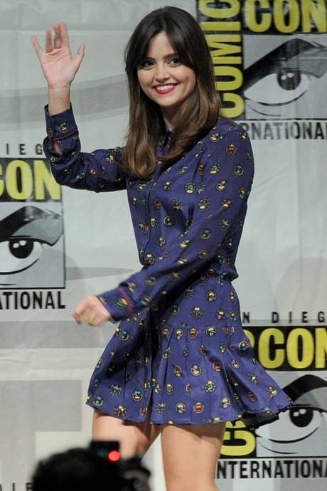 Sidekick: Jenna-Louise Coleman who plays assistant Clara Oswald at Comic Con