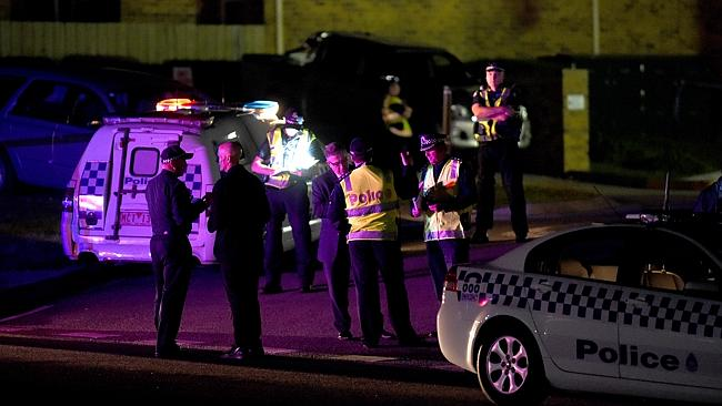 Police investigate the shooting. Picture: Mike Keating Source: News Limited