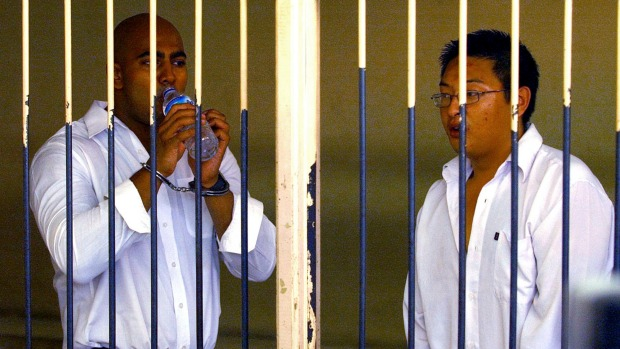 Awaiting execution: Myuran Sukumaran, left, and Andrew Chan. Photo: AAP