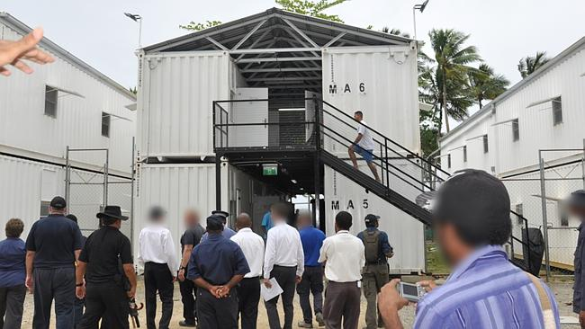 This is the accommodation on Manus Island